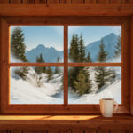 46184480 - idyllic and peacefull winter landscape of snowy mountains